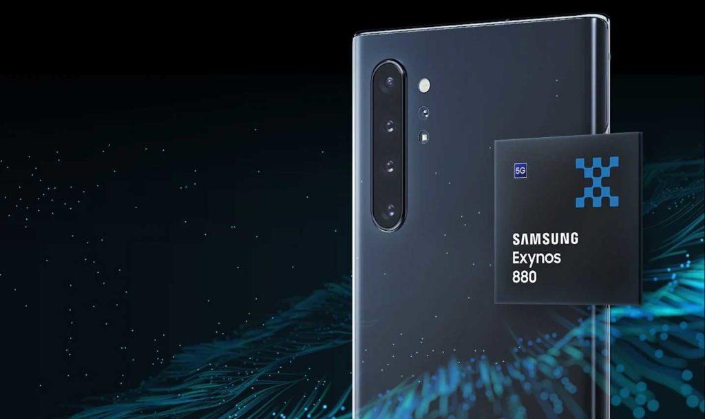 تراشه ۸ نانومتری سامسونگ Exynos 880 5G