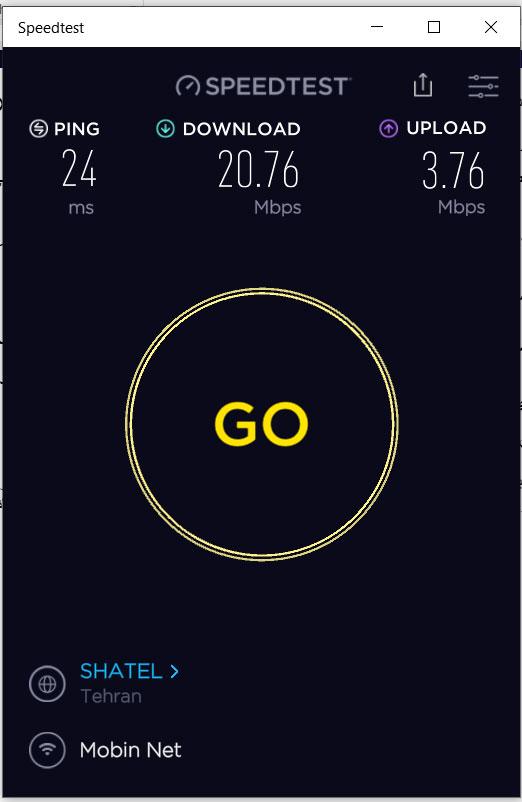 مقایسه سرعت اینترنت خانگی با سرور بورس