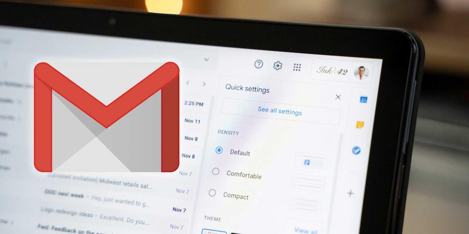 منو تنظیمات Gmail ساده و قابل درکتر شد