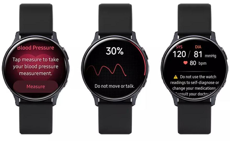 آپدیت اندازه گیری فشارخون Galaxy Watch Active 2