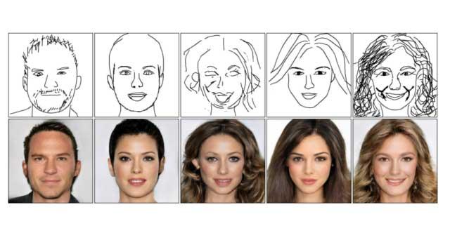 هوش مصنوعی DeepFaceDrawing برای تشخیص چهره بر اساس نقاشی ساده