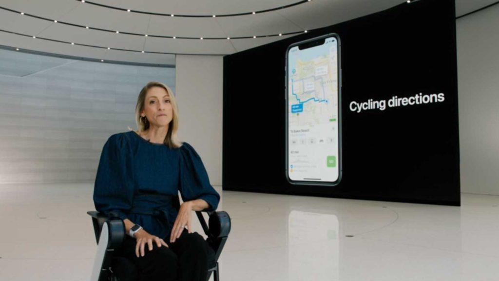 مسیریابی دوچرخه در اپل مپ