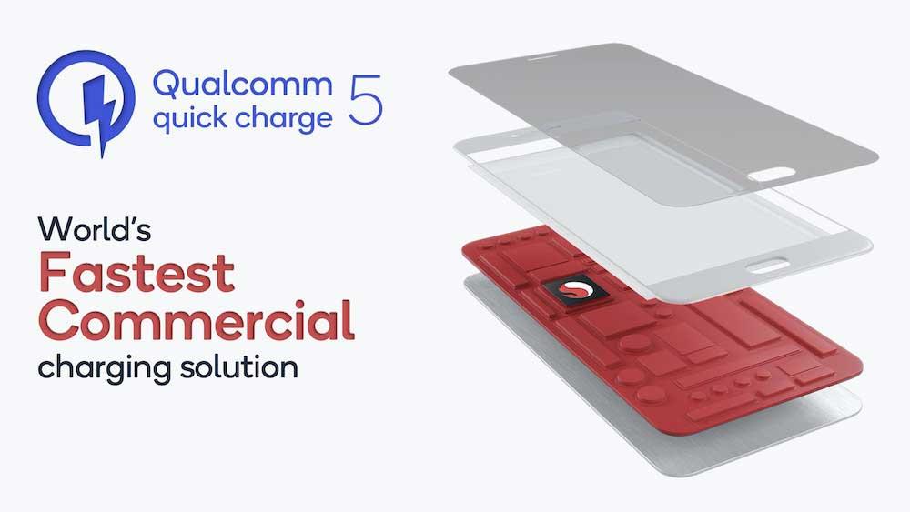 کوالکام Quick Charge 5 توان ۱۰۰ وات را برای شارژ ۰ تا ۵۰ در ۵ دقیقه ارایه می کند