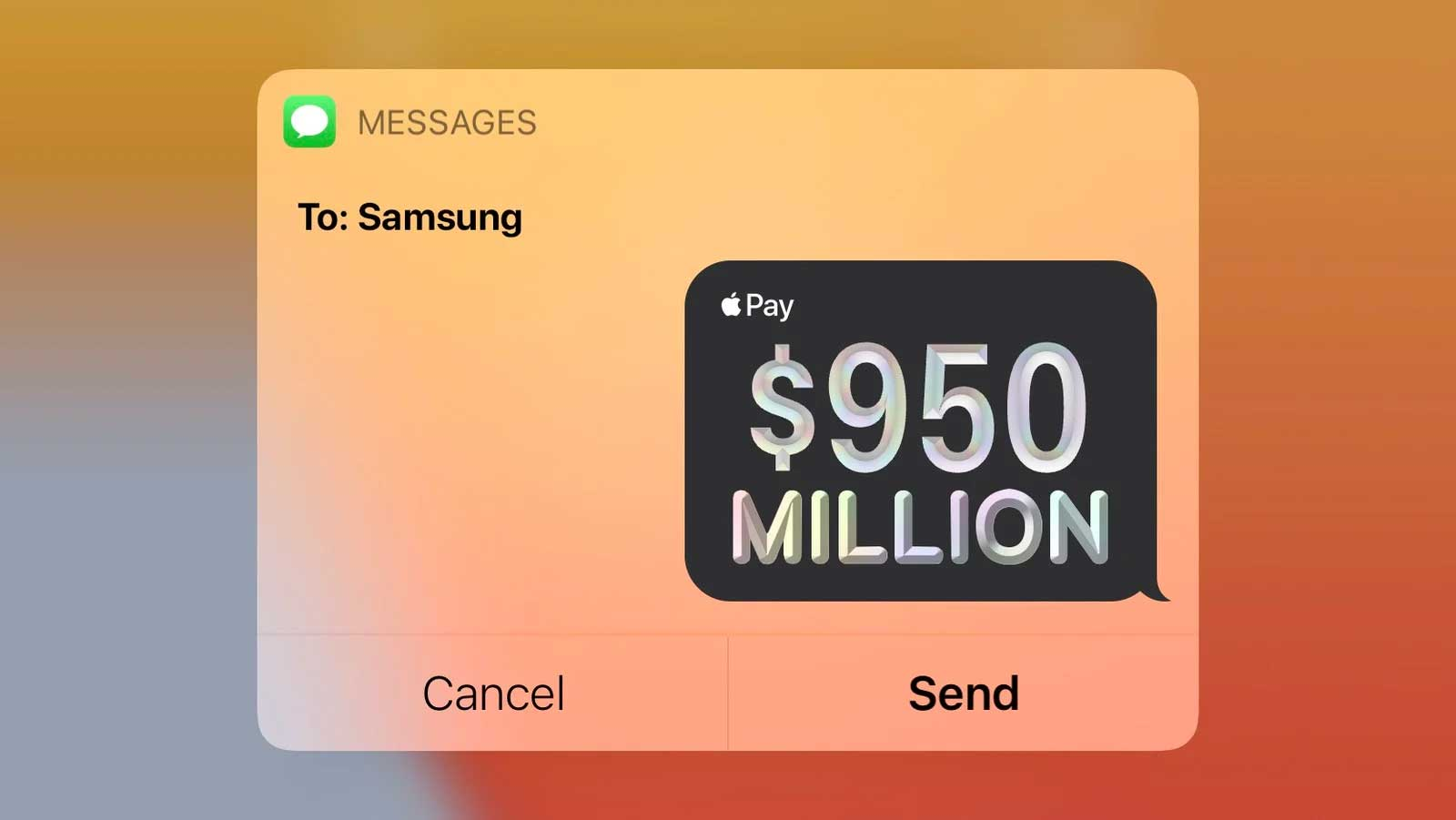 پرداخت ۹۵۰ میلیون دلار توسط اپل به سامسونگ به دلیل عدم رسیدن به حد توافق سفارش پنل های OLED
