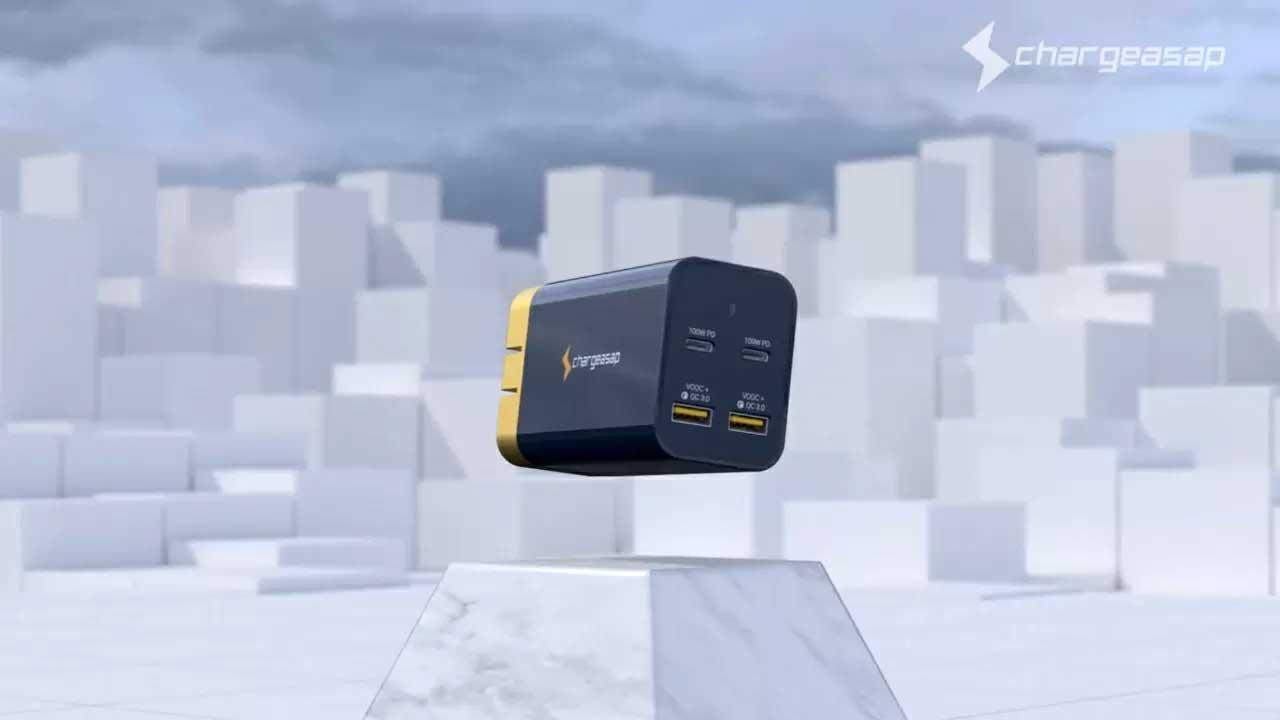 شارژر ۲۰۰ وات Chargeasap می تواند ۴ دستگاه را همزمان شارژ کند