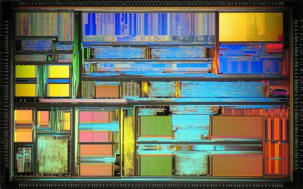 تصویری از سطح تراشه AMD K5