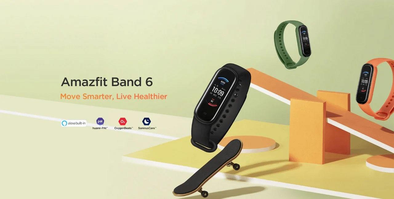 دستبند Amazfit Band 6 همان Mi Band 5 با حسگر SpO2 و دستیار Alexa است