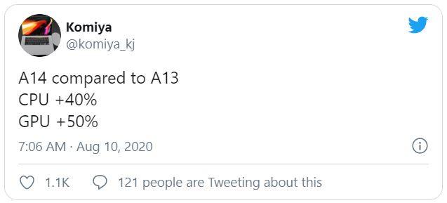 مقایسه اپل A14 با اپل A13