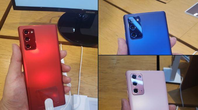 سه رنگ جدید گلکسی نوت ۲۰ را ببینید: آبی، صورتی و قرمز