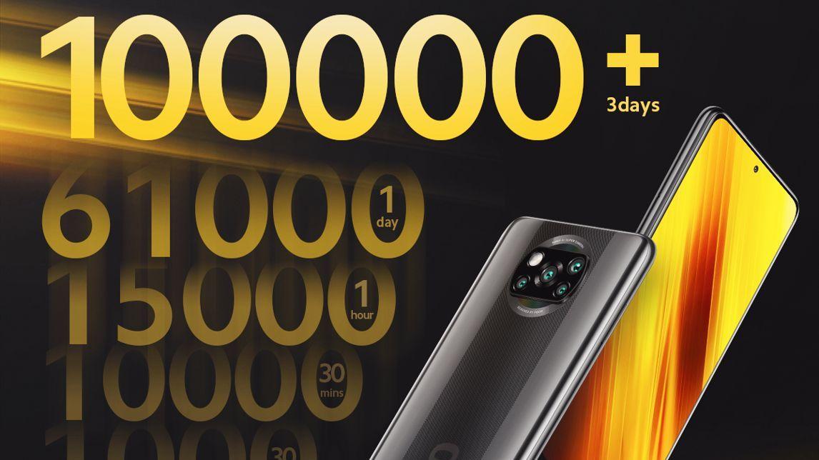 فروش ۱۰۰ هزار پوکو ایکس ۳ تنها در ۳ روز