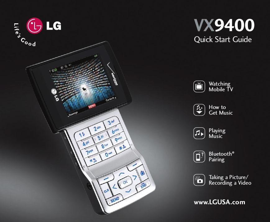 LG VX9400 معرفی شده در CES 2007