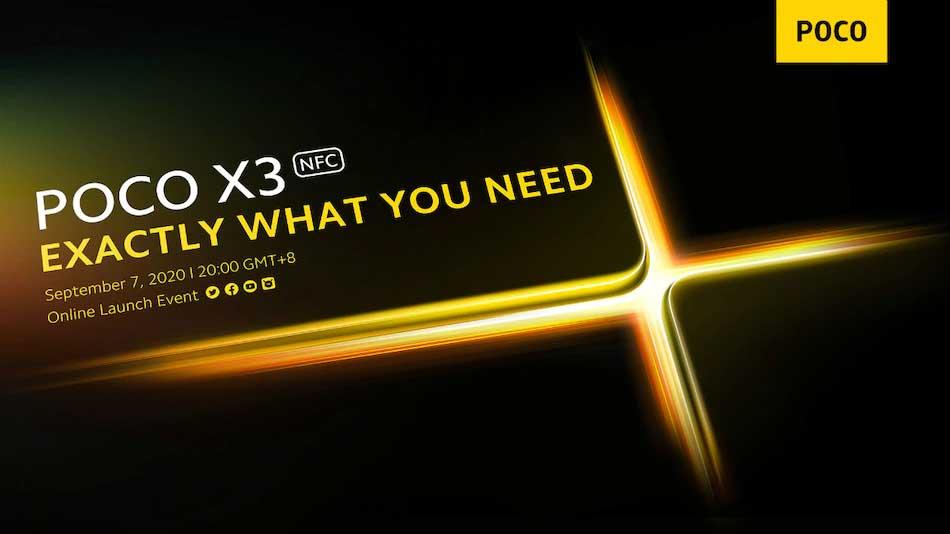 تاریخ معرفی Poco X3 NFC رسما ۱۷ شهریور ۹۹ اعلام شد