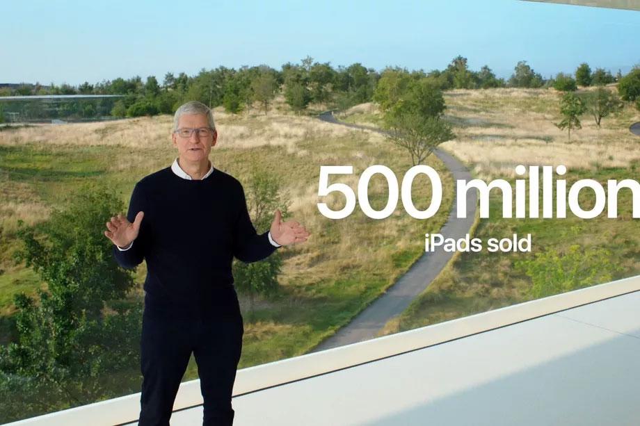 اپل ۵۰۰ میلیون دستگاه آیپد فروخته است