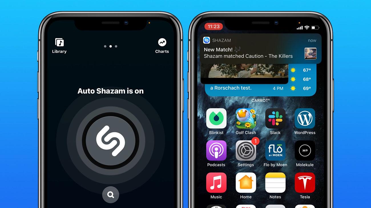 نرم افزار تشخیص موزیک Shazam در iOS 14.2 بتا یکپارچه تر از همیشه