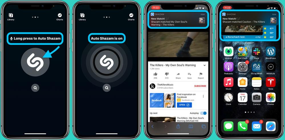 Shazam در iOS 14.2 بتا