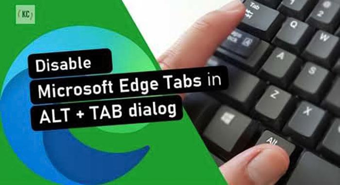 غیر فعال کردن تب های مرورگر Edge در منو ALT+Tab