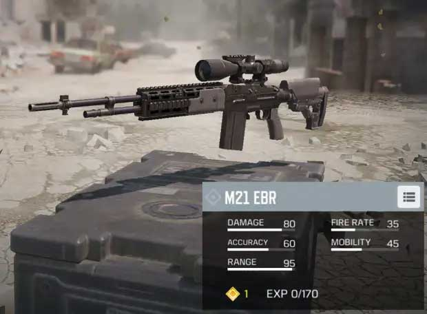تفنگ M21 EBR در Call of Duty Mobile