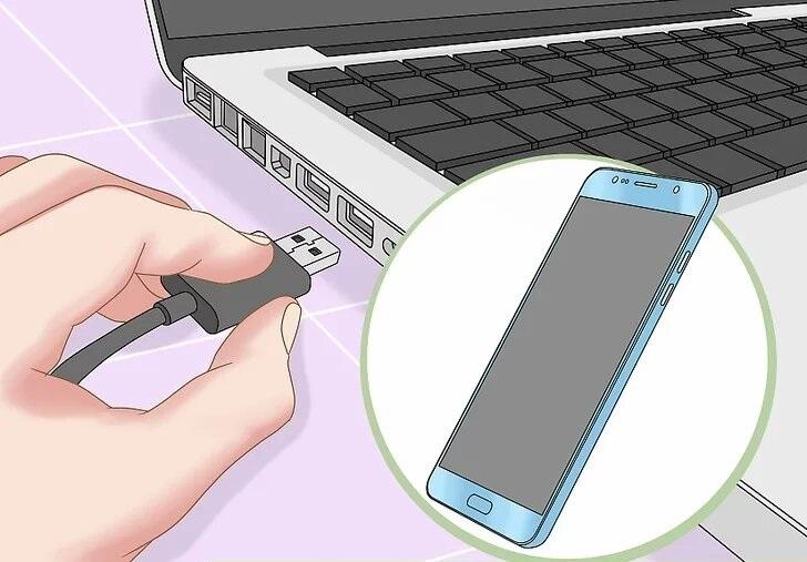 آموزش اتصال اینترنت گوشی به کامپیوتر با کابل شارژ یا USB