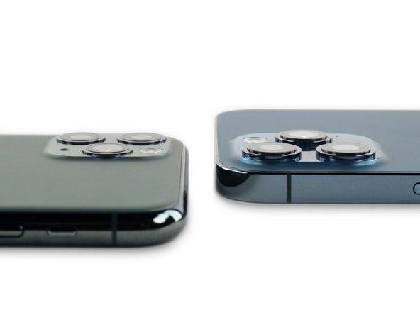 مقایسه برجستگی دوربین آیفون ۱۲ پرو مکس و آیفون ۱۱ پرو مکس