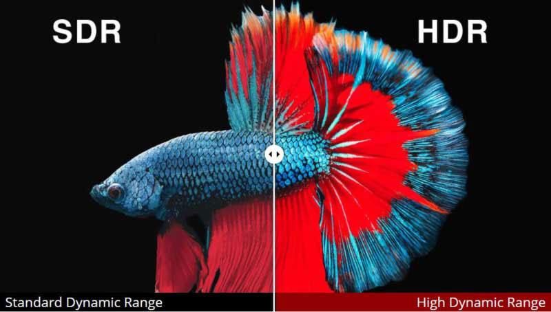 مقایسه HDR با SDR