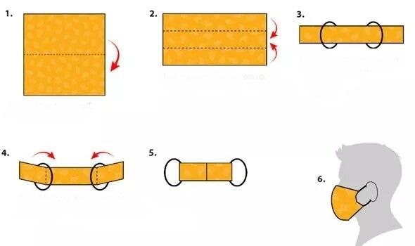 آموزش 3 روش ساخت ماسک پارچه ای قابل شستشو