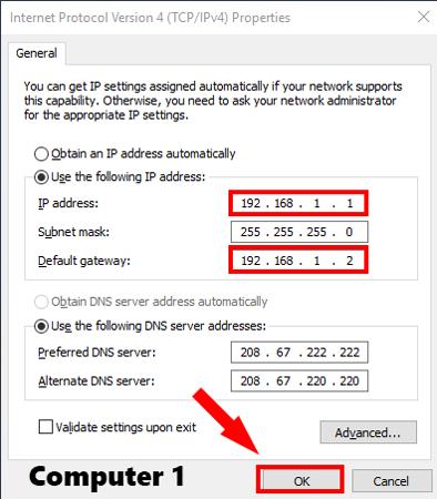 تنظیم IP ثابت