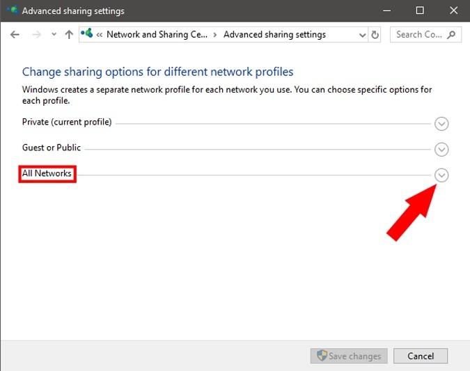 اشتراک گذاری شبکه را در هر دو رایانه فعال کنید