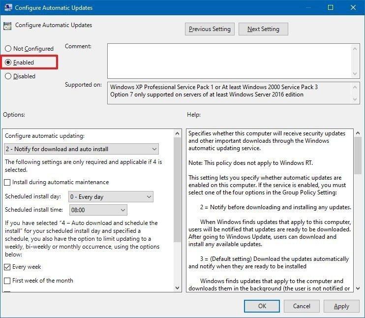 محدود کردن آپدیت های ویندوز 10