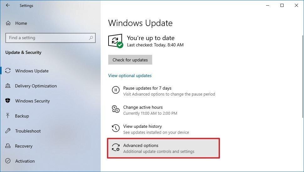 آموزش غیر فعال کردن آپدیت خودکار ویندوز 10 از طریق Settings