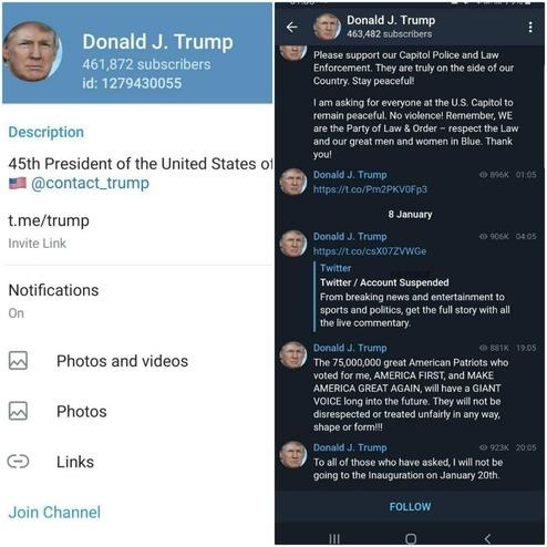 کانال تلگرام ترامپ