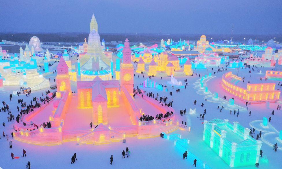 جشنواره شهر یخی هاربین چین در سال 2021