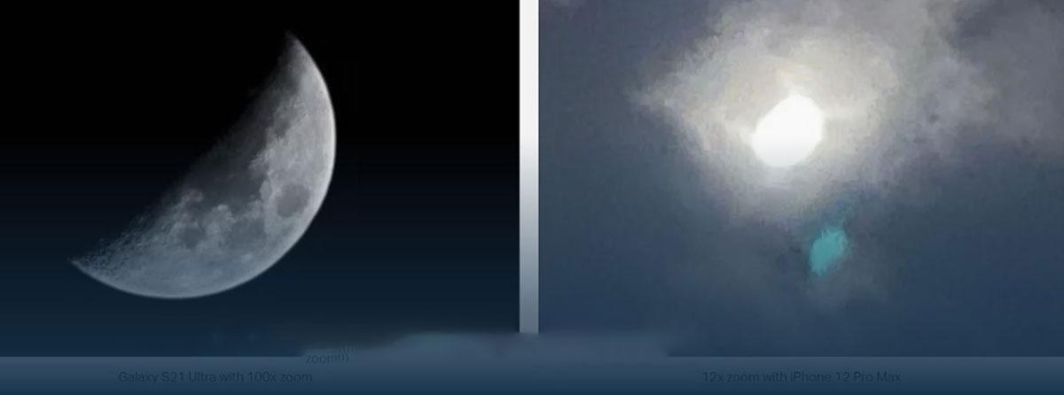 عکس ثبت شده از ماه توسط Galaxy S21 Ultra