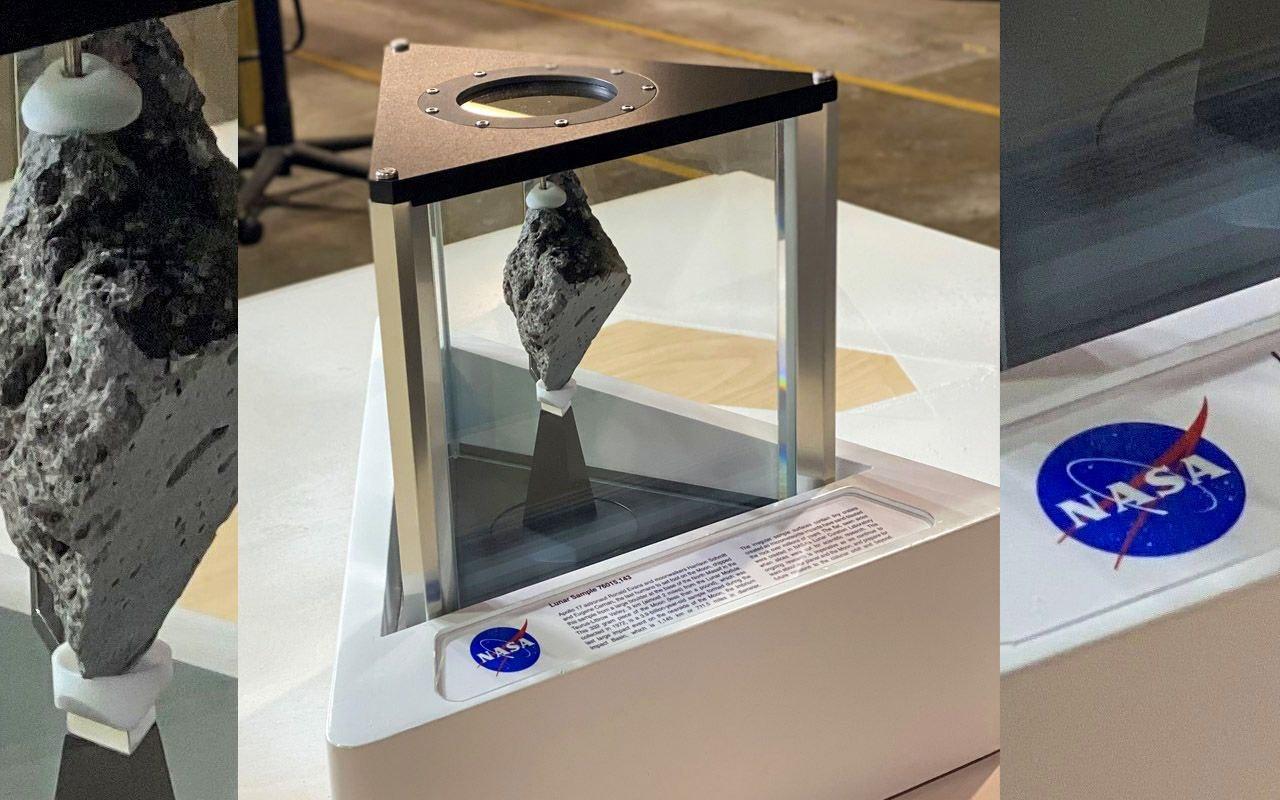 سنگ ۳.۹ میلیارد سالهی ماه در دفتر کار بایدن