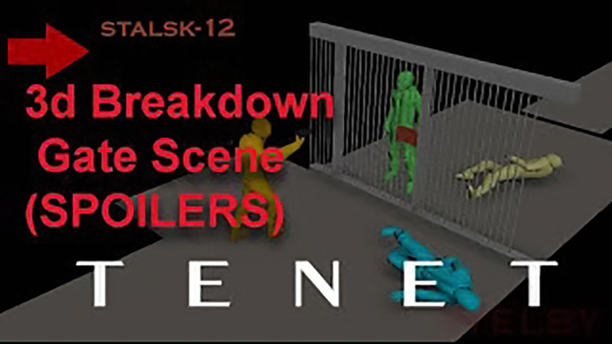 توضیح پایان فیلم تنت (Tenet) با یک مدل سه بعدی