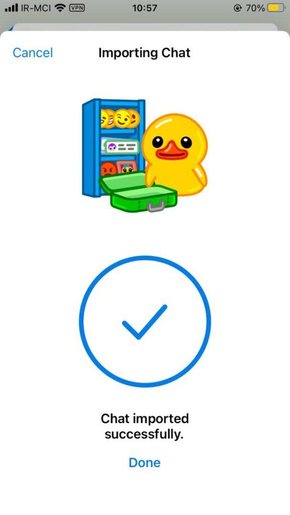 انتقال چت واتس اپ به تلگرام