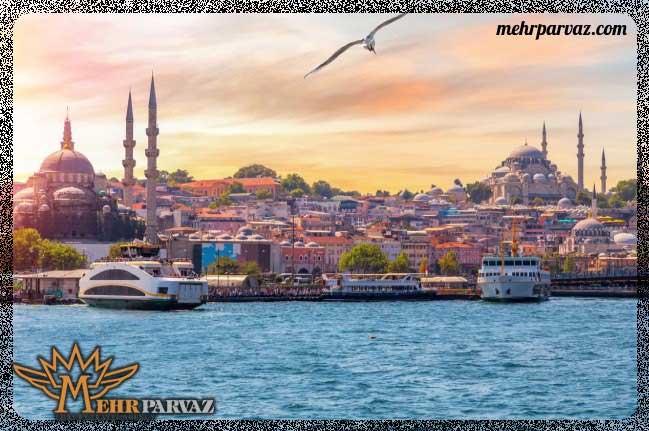 شهر استانبول یکی از شهرهای پر بازدید ترکیه