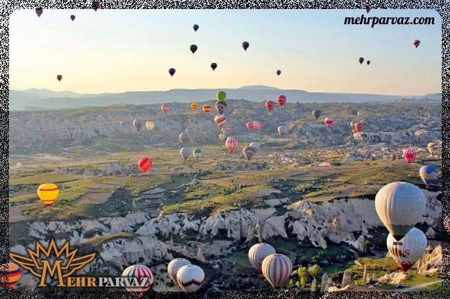 شهر کاپادوکیا معروف به شهر بالن ترکیه