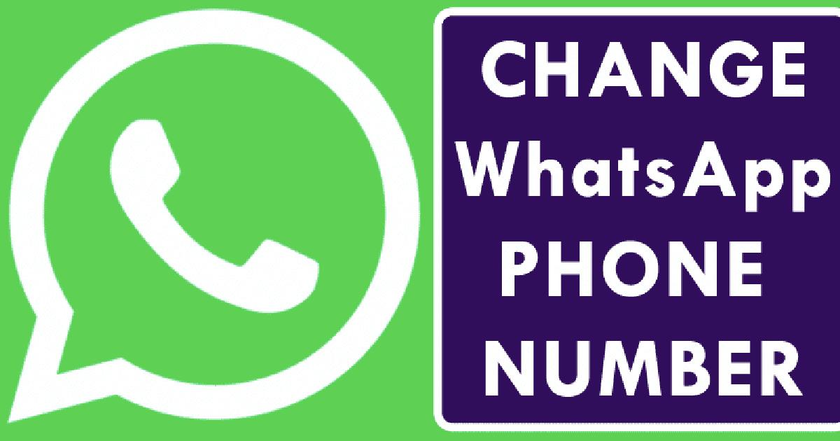 تغییر شماره تلفن واتس اپ