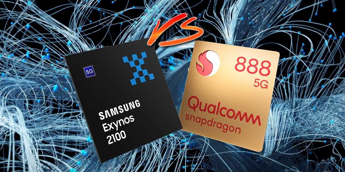 مقایسه مصرف انرژی Exynos 2100 با Snapdragon 888 روی گلکسی اس ۲۱ اولترا سامسونگ