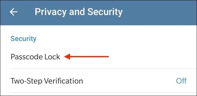 آموزش گذاشتن رمز روی تلگرام