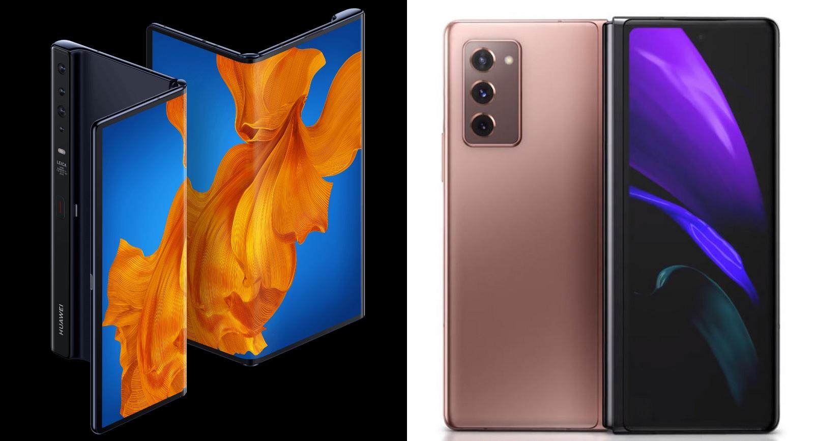 گوشی Galaxy Z Fold 2 و Mate Xs