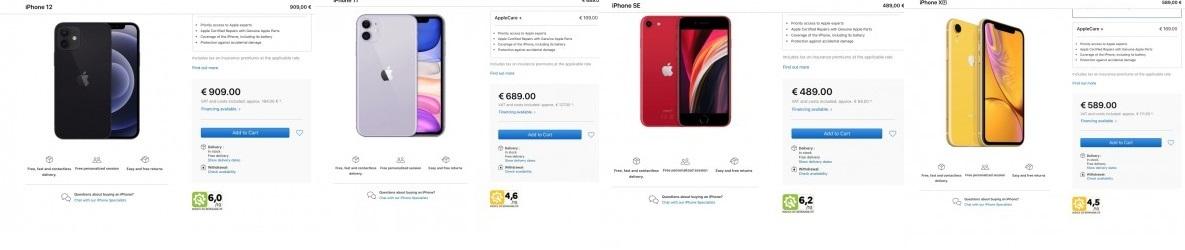 امتیاز تعمیر پذیری آيفون های اپل