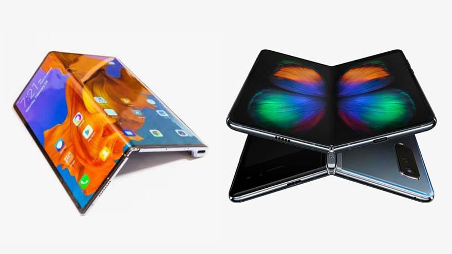 گوشی Galaxy Fold در برابر Mate X