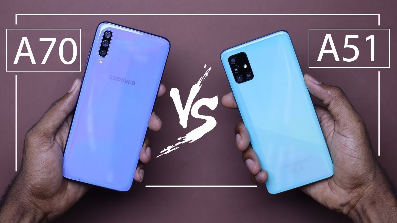 مقایسه ی گوشی a51 و a70