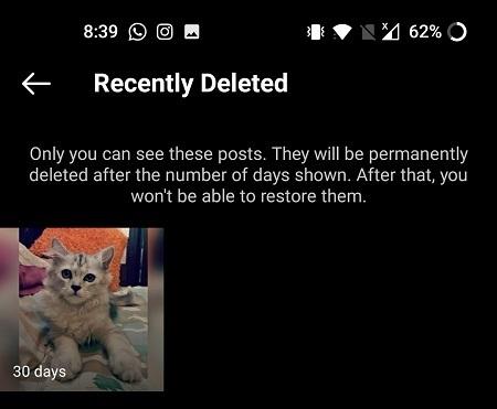 آموزش بازگردانی پست های حذف شده از اینستاگرام