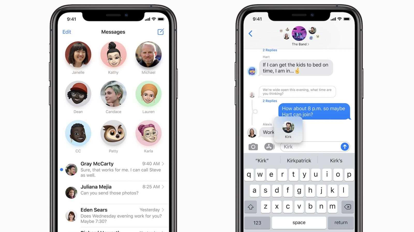 در iOS ۱۴ امکان پاسخ دادن به یک پیام مشخص به iMessage افزوده شد