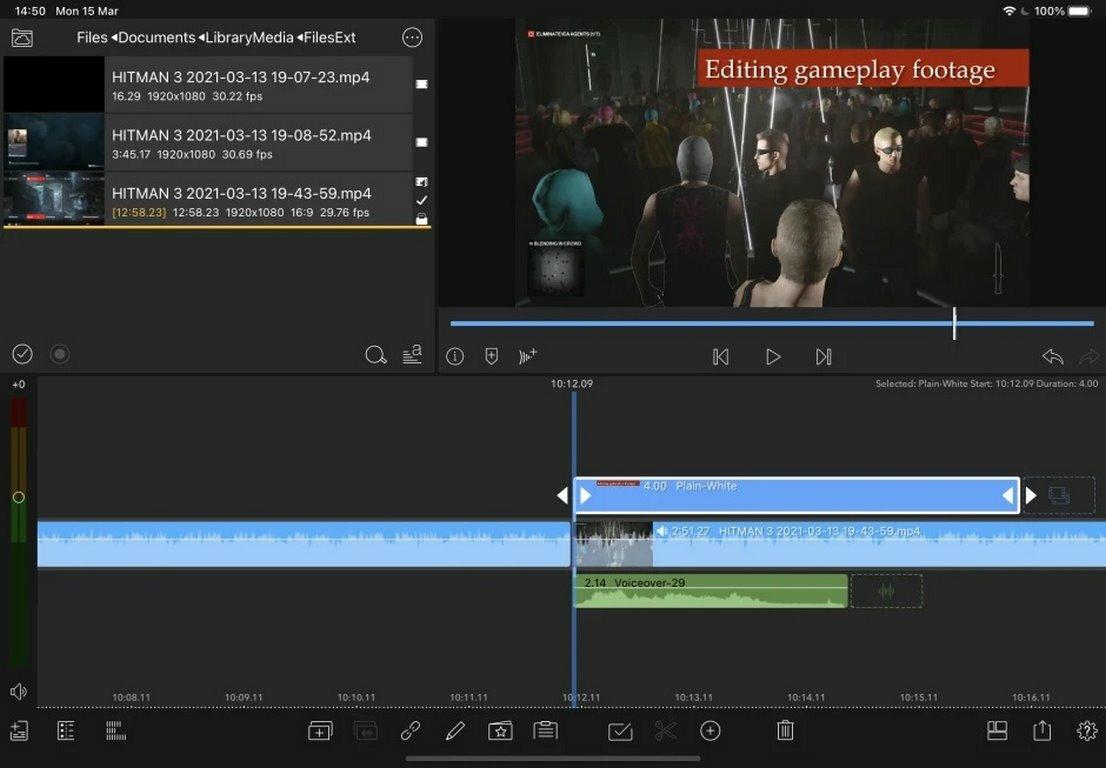 ویرایش ویدیو در آيپد با استفاده از برنامه LumaFusion