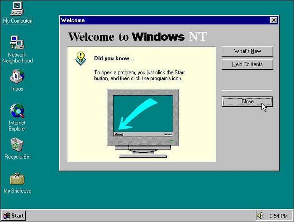 جایگاه هشتم بهترین نسخه ویندوز : ویندوز NT 4.0