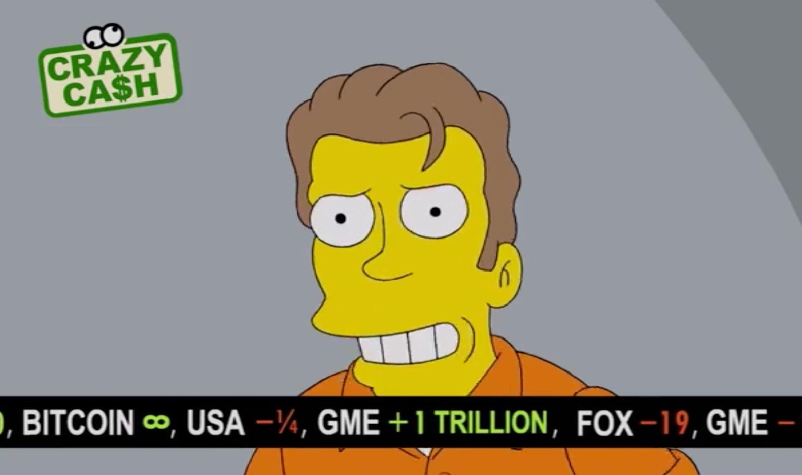 پیش بینی قیمت بیت کوین در کارتون سیمپسون ها