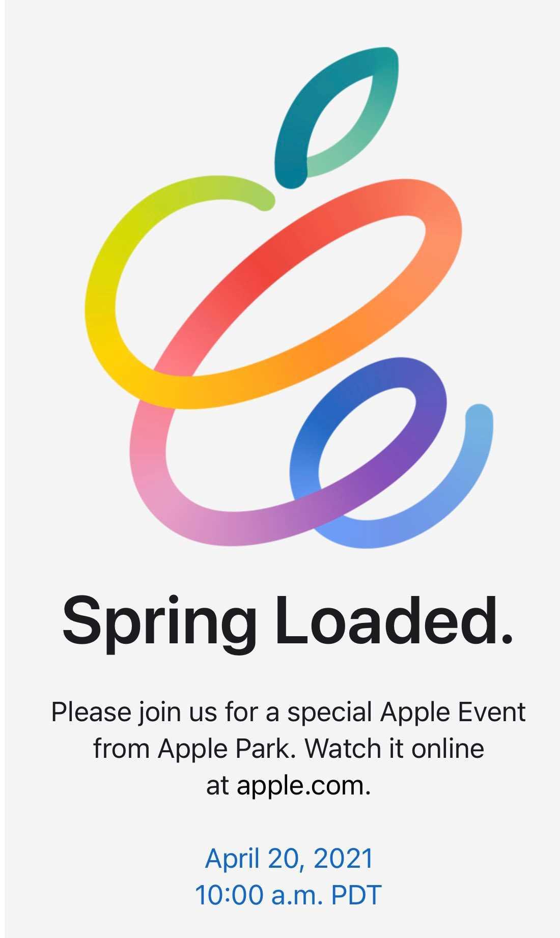 دعوتنامه رویداد فصل بهار اپل